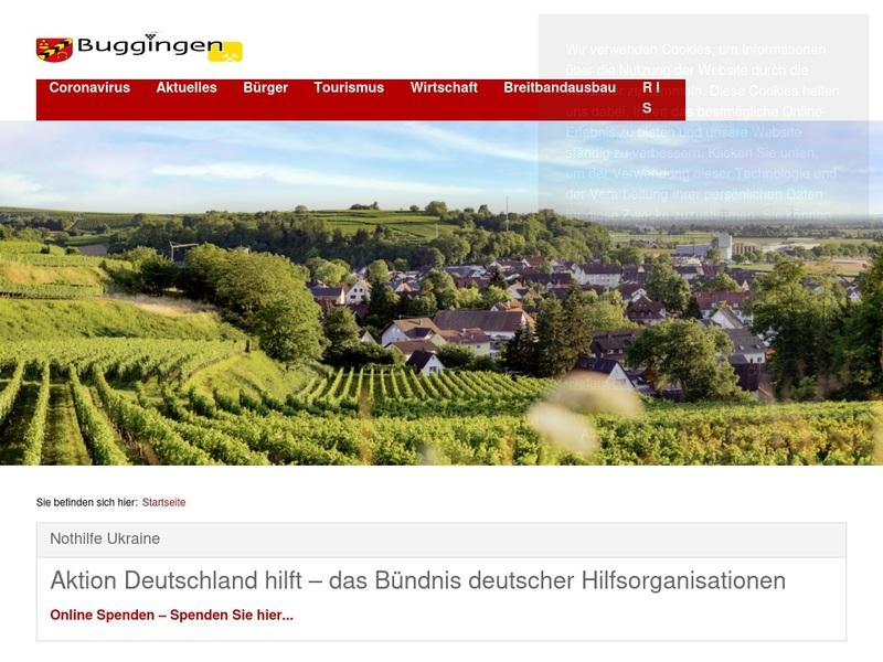 Screenshot von www.Buggingen.de